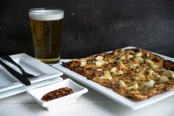 Crab Flatbread Pizza at The Narrows Restaurant