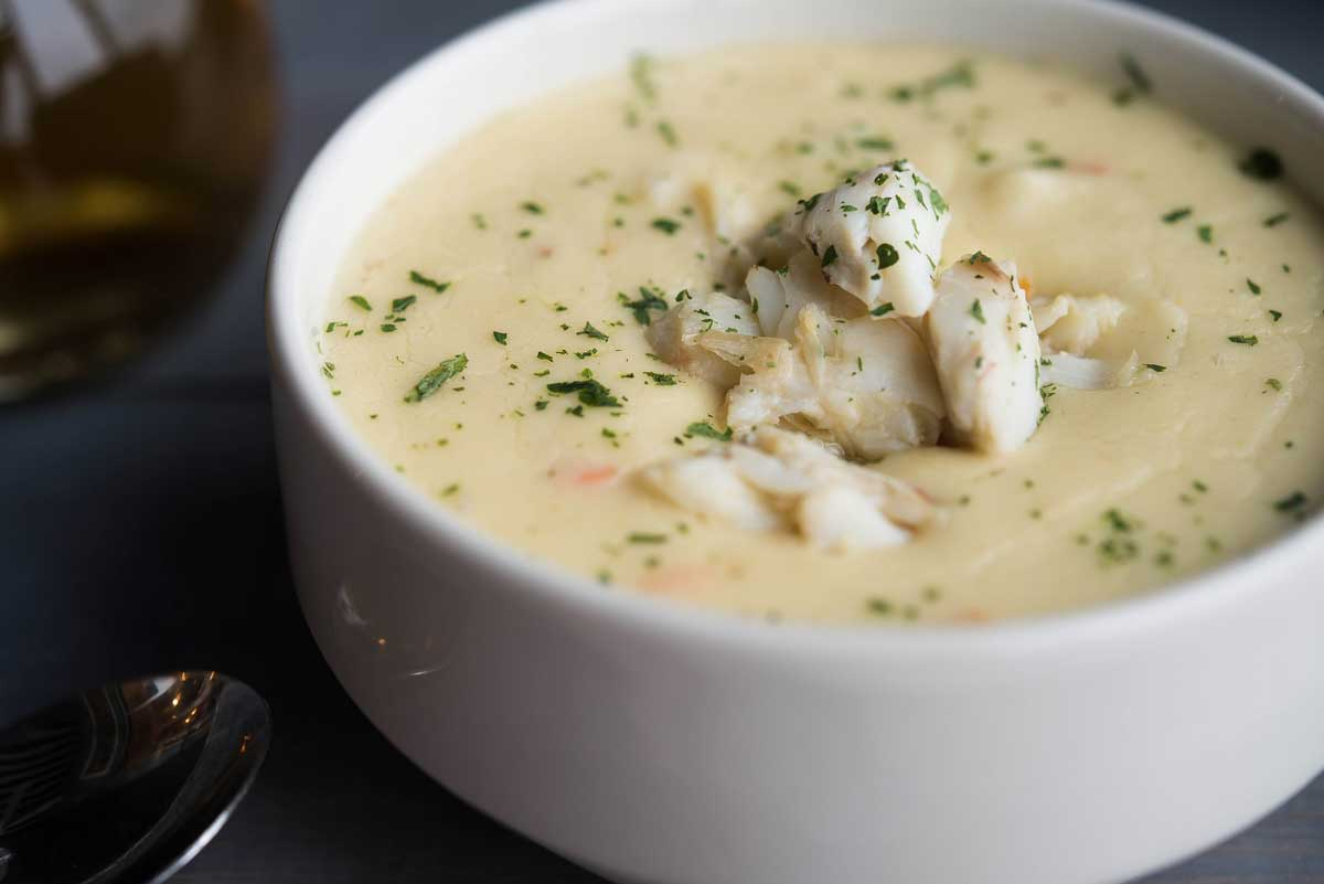 Famous Cream of Crab Soup at The Narrows Restaurant