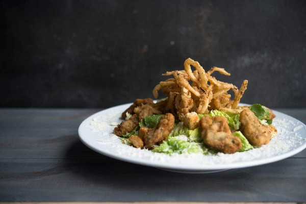 Fried Oyster Salad at The Narrows Restaurant