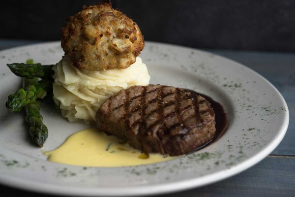 Steak & Crab Cake at The Narrows Restaurant