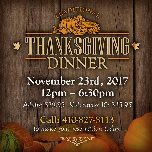 Traditional Eastern Shore Thanksgiving Dinner
